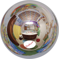 CandyLand bathroom outside of Orlando, Florida - -in a vacation home rental