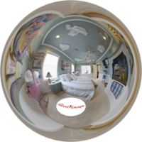 Virtual tour of the Carnival Suite - Themed room with cotton candy machine and more..