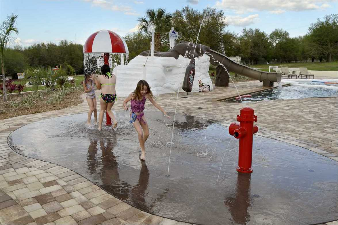 Splash Park - Kids Playing At The Sweet Escape