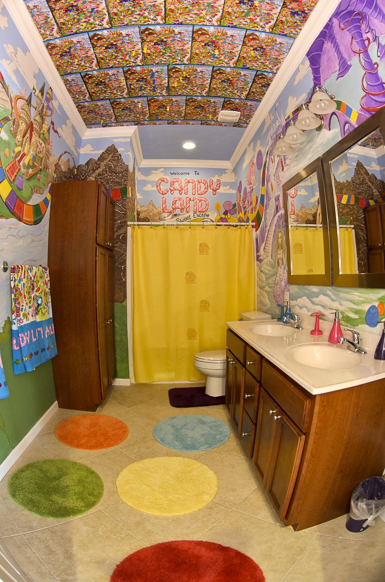sweet escape candyland and other bathrooms at our luxury