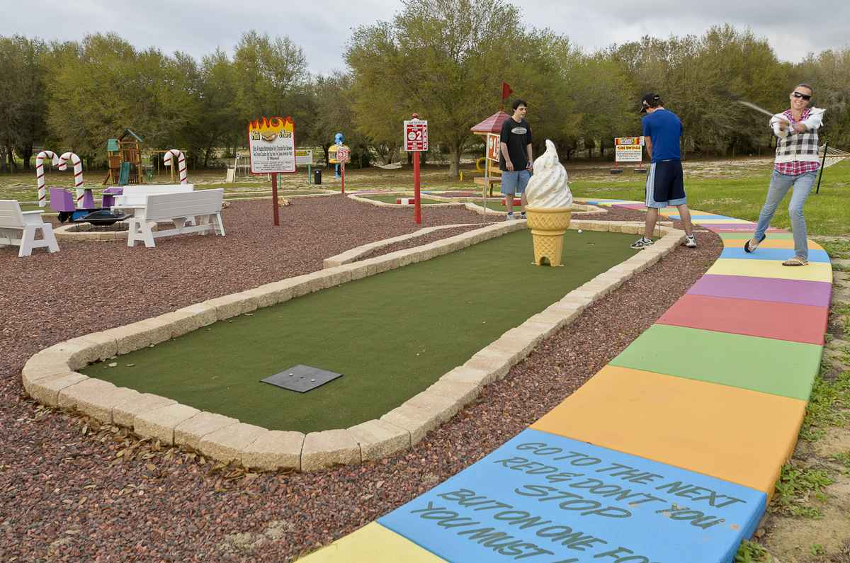 Mini Golf at The Sweet Escape vacation home rental near Orlando, Florida