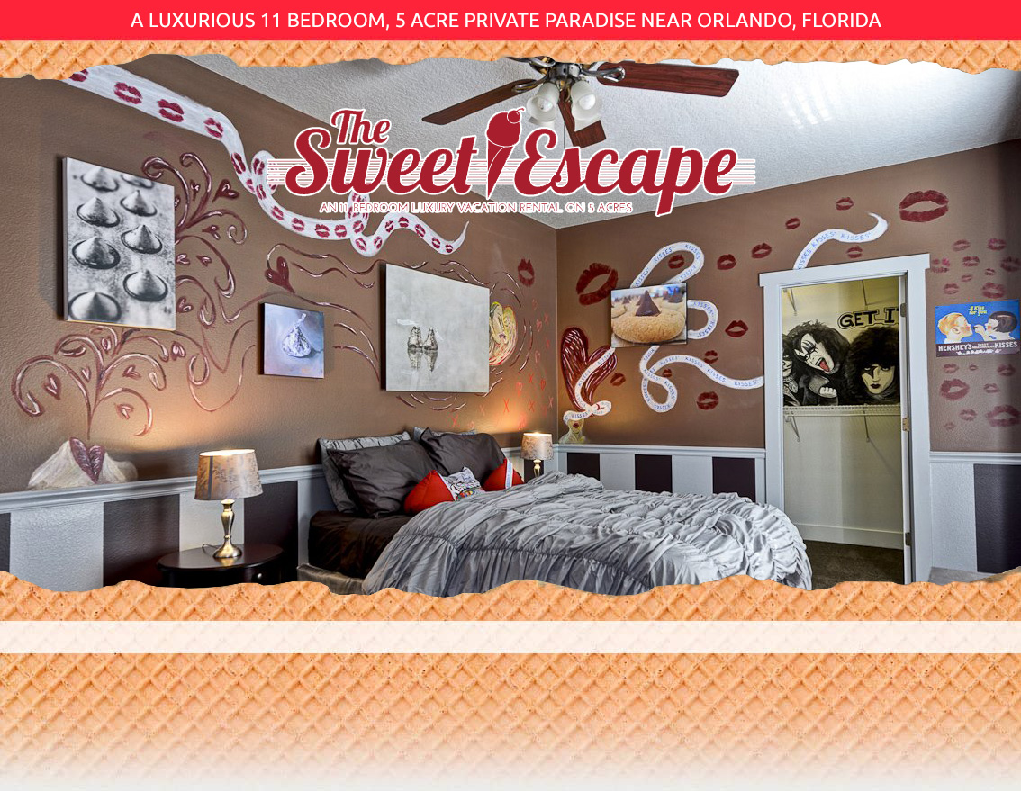The Sweet Escape Hershey Kiss Bedroom