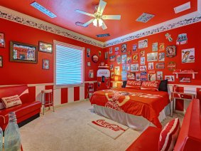 The Sweet Escape's Coca-Cola Bedroom