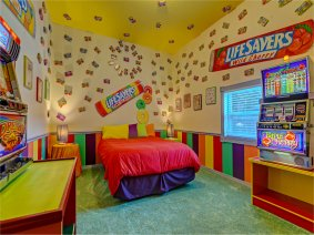 Lifesavers Candy Bedroom at Sweet Escape House near Clermont, FL and Orlando