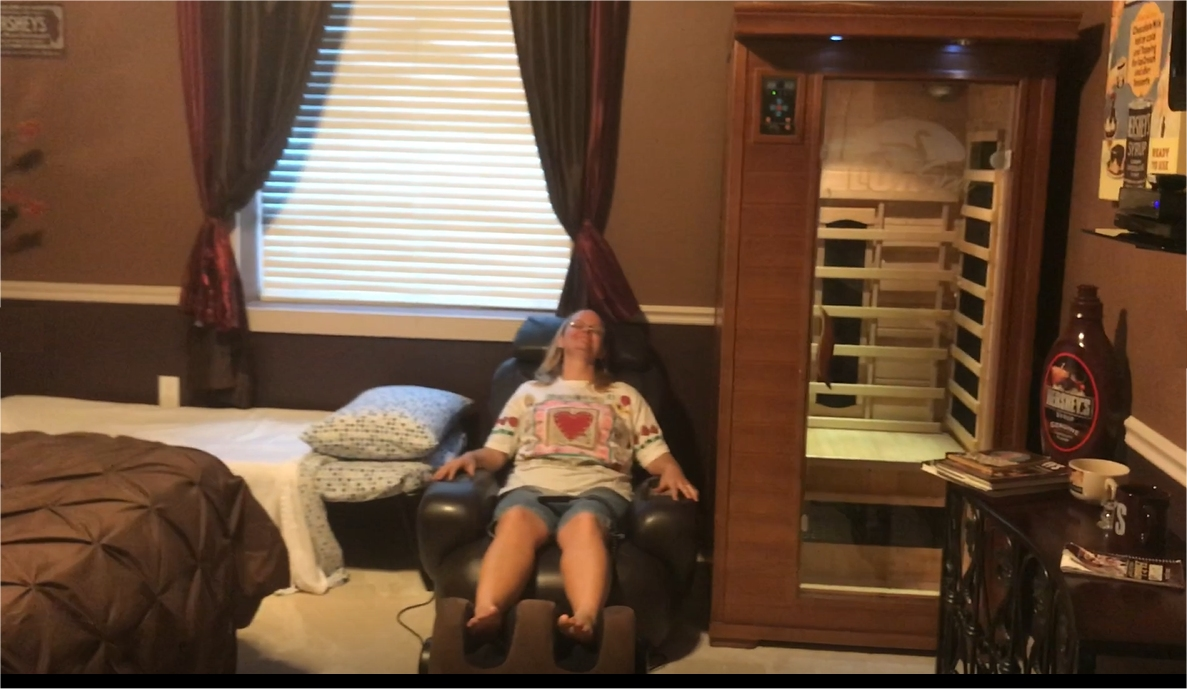 indoor sauna and spa near Orlando at The Sweet Escape vacation rental home