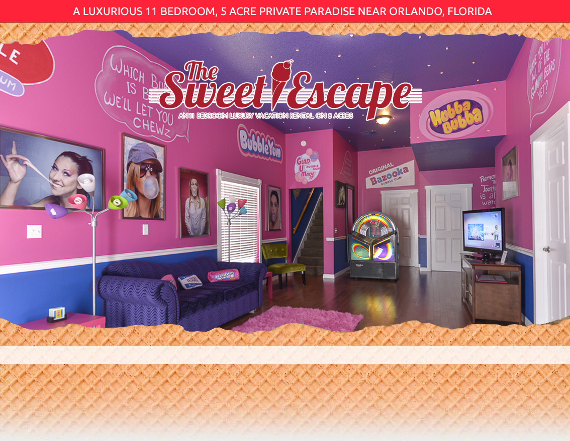 Sweet Escape Vacation Rental Outside Of Orlando - The Bubble Gum ...