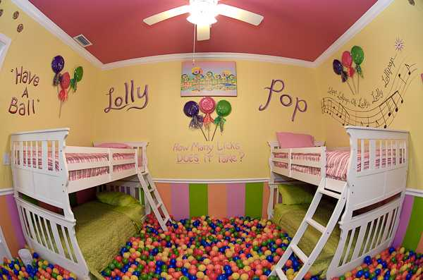 Lollipop Bedroom at an Orlando area vacation rental - The Sweet Escape