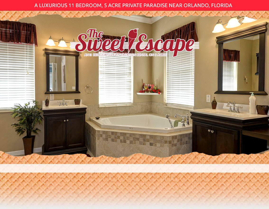 Photos of the sweet escape luxury vacation rental estate near orlando florida for Bathroom remodeling orlando fl