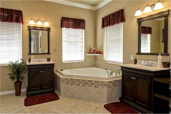 Luxury bathrooms at The Sweet Escape private vacation rental near Orlando, Florida