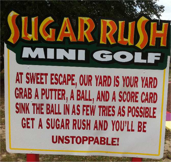 Orlando area mini golf at Sweet Escape vacation home rental