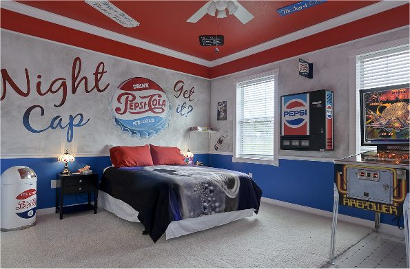 Pepsi-Cola Bedroom at The Sweet Escape Vacation Rental