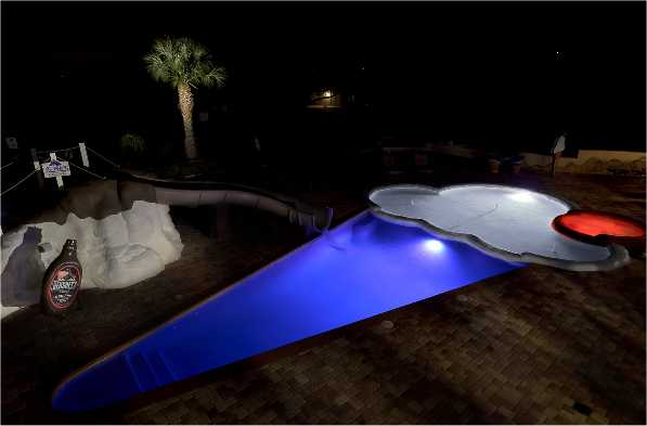 Ice Cream Cone Shaped Pool At Night
