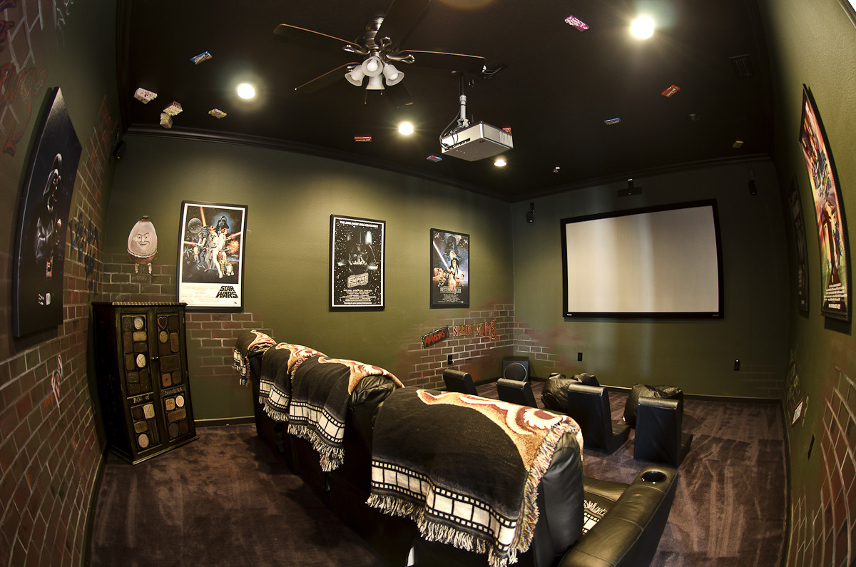 home theater at Sweet Escape Mansio