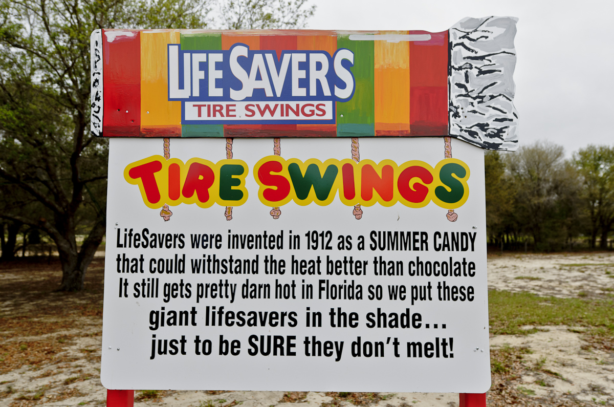 LifeSavers Candy Tire Swings At The Sweet Escape Luxury Vacation Home Rental
