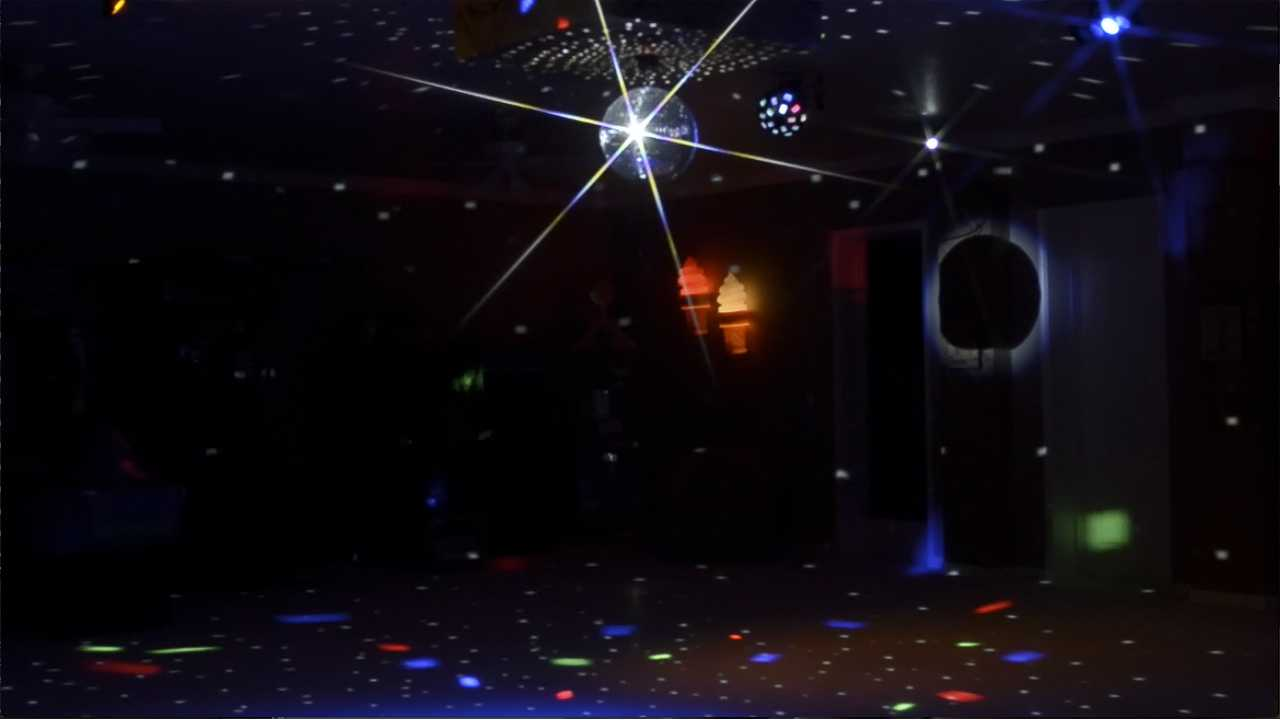 Strobe lights and disco at a private vacation home rental near Orlando