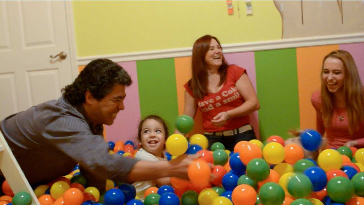 Sweet Escape vacation rental outside of Orlando, Florida featuring a lollipop themed room with its own ball pit!
