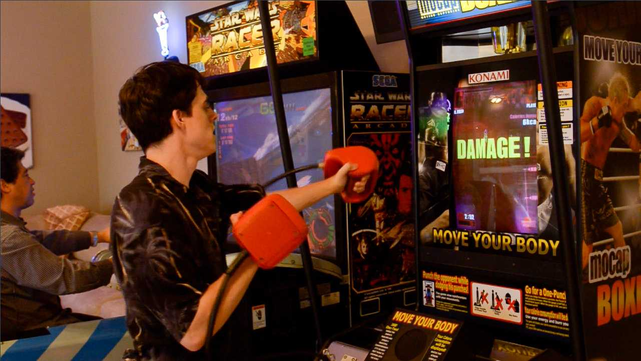 Play Mo-Cap Boxing at The Sweet Escape's video game arcade