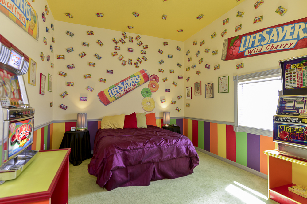 The sweet escape lifesavers candy bedroom for Candy themed bedroom ideas